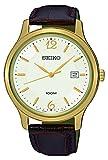 Seiko Herren Analog Quarz Uhr mit Leder Armband SUR150P1