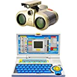 Shop & Shoppee Educational 20 Activities Learning Laptop Toy With Nightscope Binocular ( Multicolor)