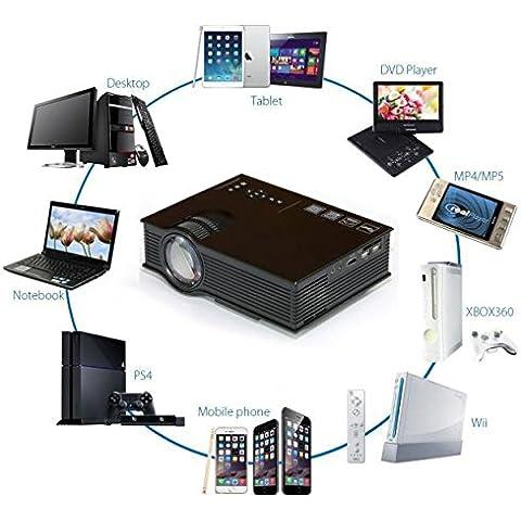 2016 nuevo UC40 + Pro POTOBrand 130 pulgadas TFT LCD 1800 Lumens Home Theater Cinema juego proyector HD 1080p HDMI VGA USB