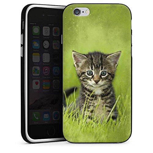 Apple iPhone 3Gs Housse étui coque protection Bébé chat Kitten Chat Housse en silicone noir / blanc