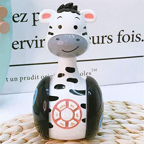 DishyKooker Il Bambino sconcerta la Bambola Animale della Bambola del Tumbler dei Giocattoli Campana di Puzzle Intelligente Multifunzionale Zebra Giocattoli educativi per Bambini