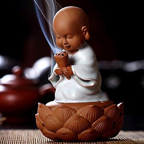 Chino regalo cerámica Buda quemador de incienso aromaterapia incienso soporte para incienso, incienso cono, Buda Craft Decoración del hogar que deseen