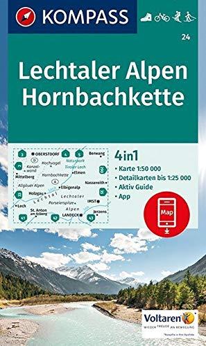 Aed lechtaler alpen/horbachkette 24 1/50.000 par KOMPASS-Karten