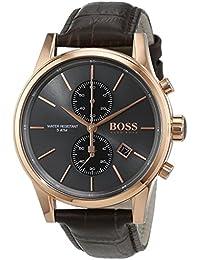 Hugo Boss Herren-Armbanduhr JET Chronograph Quarz Leder 1513281