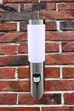 Edelstahl Außenlampe mit Leuchtmittel LED 7 Watt Fackel inkl. Bewegungsmelder