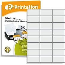 Q-Connect Universaletiketten Etiketten weiß A4 70x37 2400 Stück Drucker Kopierer