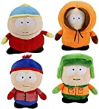 DinoToys South Park Lotto 4 Peluche 20cm Kenny Kyle Eric Stan Originale Comedy Central