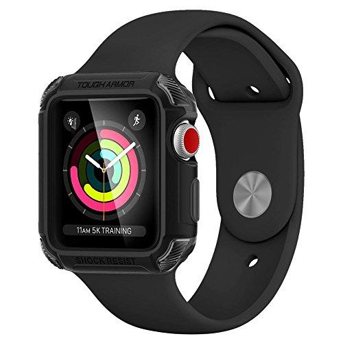 Spigen Tough Armor (Version 2) Case for Apple Watch (42mm) (SERIES 3/SERIES 2/SERIES 1) Case/Cover – Matte Black 059CS22405