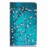 Yiizy Samsung Galaxy Tab A 10.1 (T580, T585) Custodia Cover, Plum Flower Design Sottile Flip Portafoglio PU Pelle Cuoio Copertura Shell Case Slot Schede Cavalletto Stile Libro Bumper Protettivo Borsa