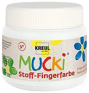 Mucki Pintura de dedos de la marca, 150ml, color weiß