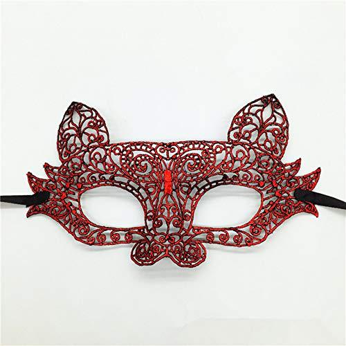 Klöppel Maske, Halloween-Kugel Mit ()