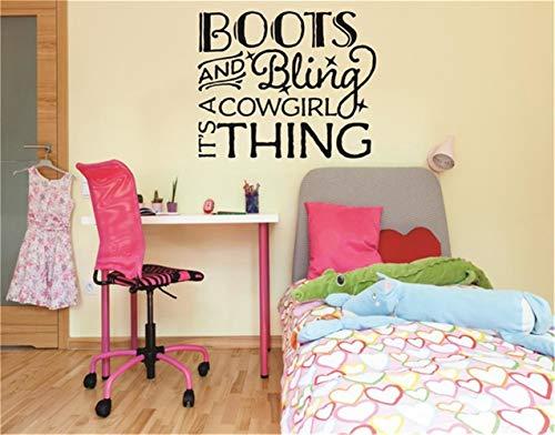 zimmer jungs Boots & Bling Es Ist Eine Cowgirl-Sache Für Mädchenraum ()