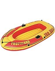 Jilong Tropicana Boat 100 Set - Bote hinchable con remo y bomba incluidos, capacidad de hasta 120 kg; medidas: 185 x 98 x 28 cm