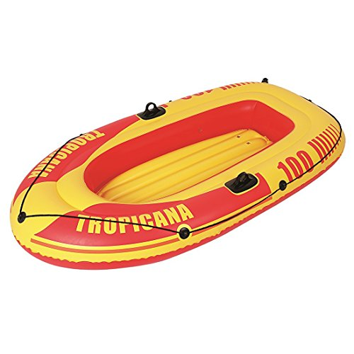 Jilong Tropicana Boat 100 Set - aufblasbares Ruderboot inkl. Paddel und Pumpe, mit 120kg Tragkraft, Schlauchboot Maße 185x98x28 cm