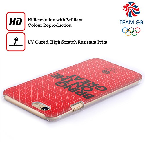 Official Team GB British Olympic Association Union Jack Bring On The Great Hard Back Case for Apple iPhone X Griglia 2