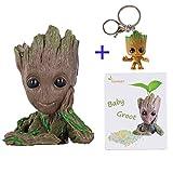 Descripción del producto  Galaxy Guard 2 Groot Hand Decorations  Flower pot tree man:  Tamaño del paquete: 13.5 * 9 * 8 cm  Peso del paquete: 0.22kg