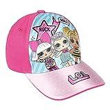 L.O.L. Surprise ! Gorra De Béisbol Premium para Niña | Gorras De Béisbol De Verano para Niñas | Producto Oficial para Niños De Los Accesorios De Las Muñecas (Rosa Oscuro)