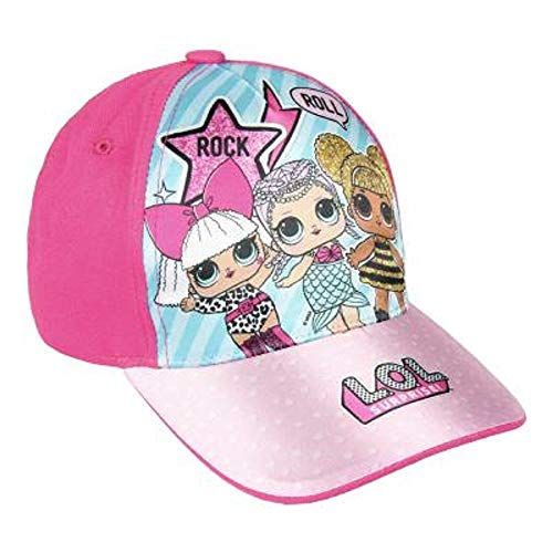 L.O.L. Surprise ! Mädchen Premium Baseball Baseballmütze | Kinder Sonnenhüte für den Sommer in Schwarz Rosa Blau Sparkly Glitter Einhorn Holographische Krempe (dunkelrosa) (Den Baby Hut-hut In Katze)