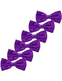 5ffacc3497796 Enfant Noeud Papillon Cravates - 6 Pack of Réglable Pure Soie Necktie Pour  la fête de