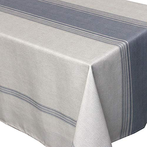 Nappe rectangle 150x350 cm imprimée 100% polyester BISTROT Gris