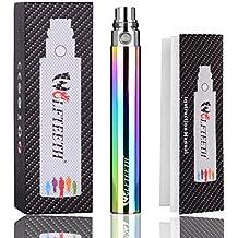 WOLFTEETH Rechargeable eGo-T 1100mAh Batterie Electronique Cigarette Remplacement Sans Nicotine Ni Tabac (Coloré)