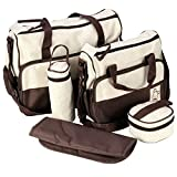 5teiliges Babytasche Set Wickeltaschen – LOSORN ZPY Pflegetasche Tragetasche Mama Handtasche Umhängetasche Windeltasche