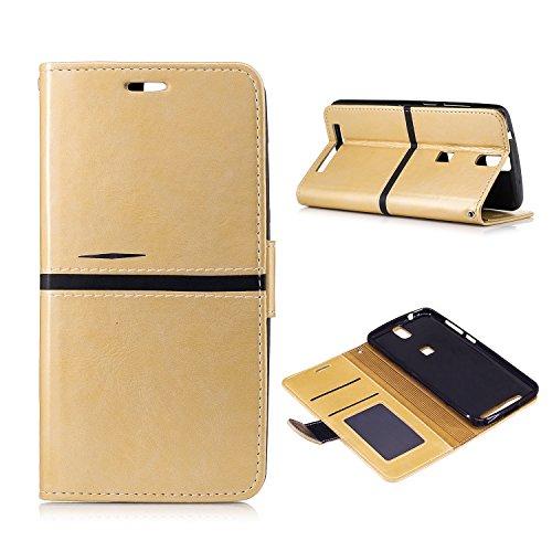 MOONCASE Elephone P8000 Hülle, Slim Tasche PU Leder Klappetui Bookstyle Schutzhülle für Elephone P8000 (5.5