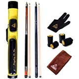 CUESOUL Set Of House Bar Pool Cue Sticks Combo - 2 Cue Sticks Packed In 2x2 Hard Pool Cue Case E205