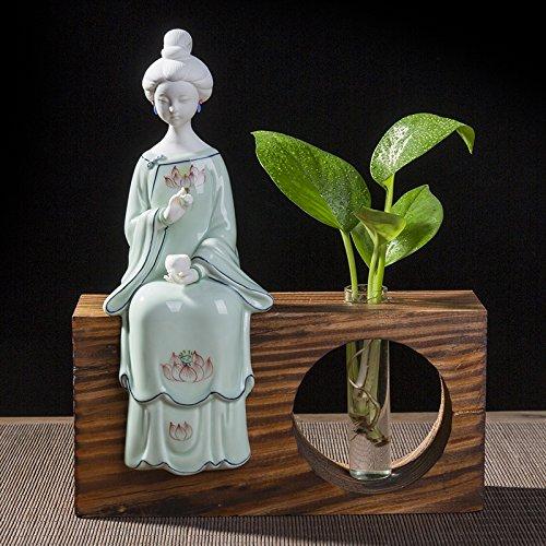 XOYOYO Die Neue Chinesische Cheongsam Lady Soft Outfit Home Ausstattung Wohnzimmer Dekoration Keramik Kunsthandwerk, Damen - Schach (Mit Sockel) - Sockel Schach