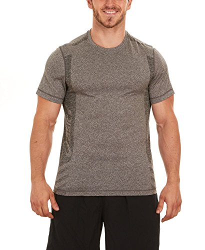 ASICS Hot Shot Tee, Grey Heather/Grey Heather (Small)