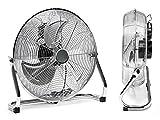 FAN Lüfter Ventilator Bodenventilator 45CM Silber Metall