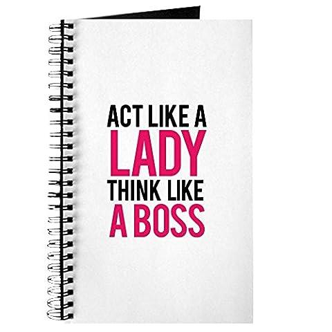 CafePress–ACT Like A Lady Think Like A Boss–Spiralbindung Journal Notebook, persönliches Tagebuch, Dot Grid