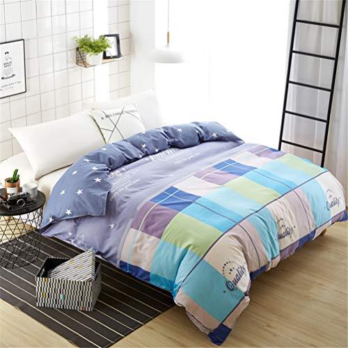 JWANS Bettbezug Plaid Stripes Quilt Cover Druckmuster Baumwolle Bettwäsche Doppel voll Königin König Bettwäsche -