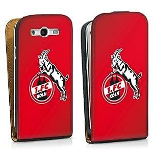 Handy Design Tasche Hülle Case 1. FC Köln rot Galaxy S3 - DesignTasche Downflip black - Samsung