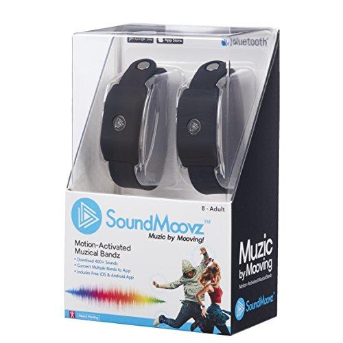 Soundmoovz-Armbänder Music by Moving für Schaffen und Sounds und Musik zu Schwarz
