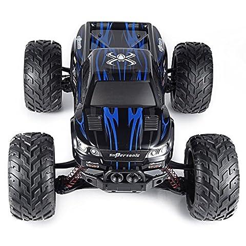 2.4GHz 1:12 Ferngesteuerte Autos RC Monstertruck bis zu 50km/h schnell und 100 Meter Reichweite 9.6V 800mAh Akkupack