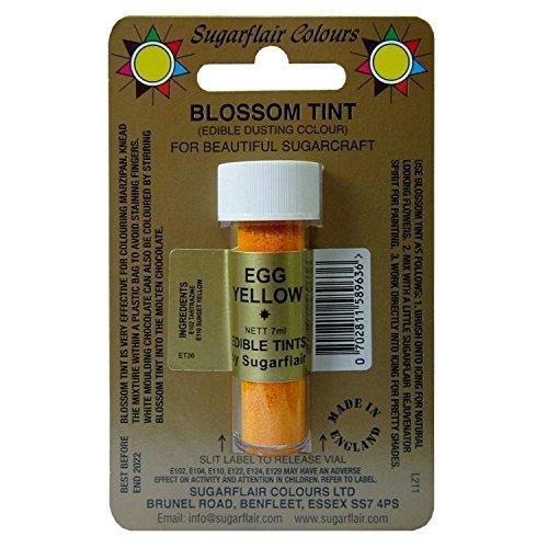 Sugarflair Blüten Tönung Essbar Bestäubungspuder - Ei Gelb