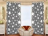 2er Set (=2 Stück) Bezaubernde dekorative Gardine Dekoschal