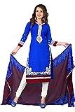 Blue Designer Dress Material