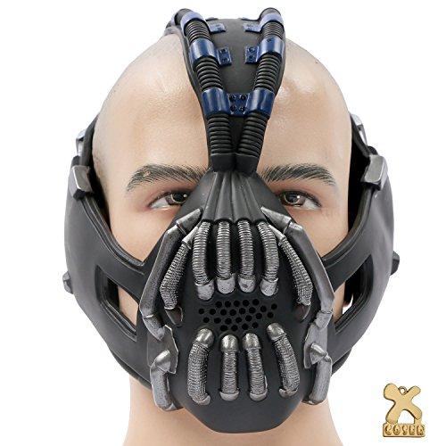 Cosplay Kostüm Maske Herren Halloween Verrücktes Kleid Latex Helm Replik für Erwachsene Party Zubehör (Cosplay Kostüme Bane)