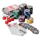 Squirrel Poker Set da poker da 500 fiche x 15 g, con custodia nera in alluminio, 7 colori, valori bassi