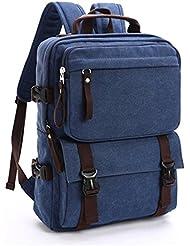 Laptop bag Mountaineering Backpack al aire libre entusiastas Senderismo Mochilas Outdoor Escalada Bolsa bolsa de lona mochila (35L) (Blue)