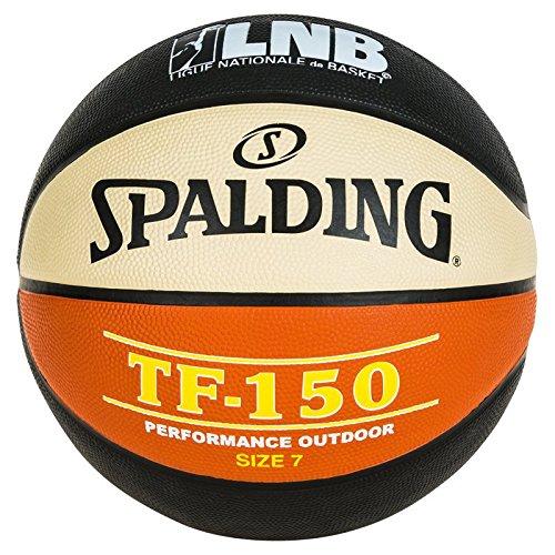 SPALDING - LNB TF150 SZ.7 (83-416Z) - Ballons de basket NBA - Touché et Contrôle améliorés - Matière Durable - noir/orange/blanc