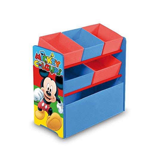 Arditex WD8330 – Armario organizador, 5 cestas, diseño Mickey Mouse