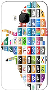 Timpax protective Armor Hard Bumper Back Case Cover. Multicolor printed on 3 Dimensional case with latest & finest graphic design art. Compatible with HTC M9 Design No : TDZ-27028
