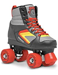 Roces Rollerskates Kolossal - Patines en paralelo, color negro (black-grey-yellow), talla 38