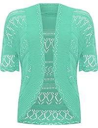 VR7 Ladies Knitted Bolero Crochet Cardigan Shrug 5d5411fc3