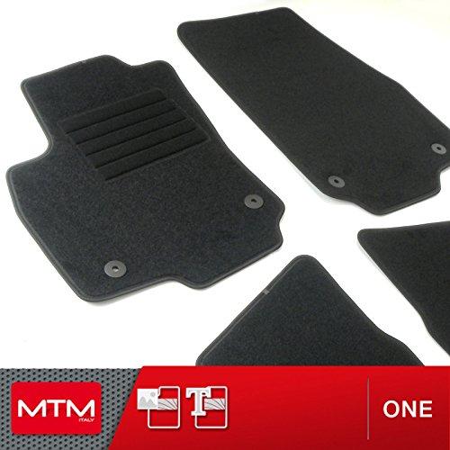 MTM Tappetini Astra H e GTC dal 2004 al 2009 su Misura come Originali in Velluto, Battitacco in Moquette, Bordo Antiscivolo, cod. One 2482