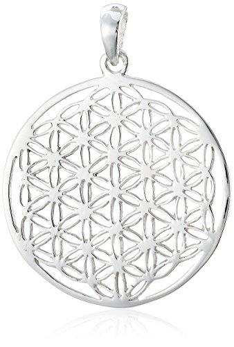 ensblume Blume des Lebens Mandala klein Sterling Silber 925 ALB-EZ ()