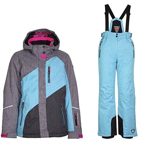 Killtec Alara Jr - Ski Set Mädchen Skianzug, Farbe:Grau;Bitte Größe wählen:140